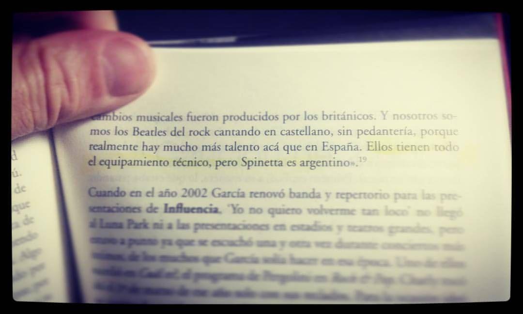 Del libro sobre #CharlyGarcia de Martín Zariello 😃