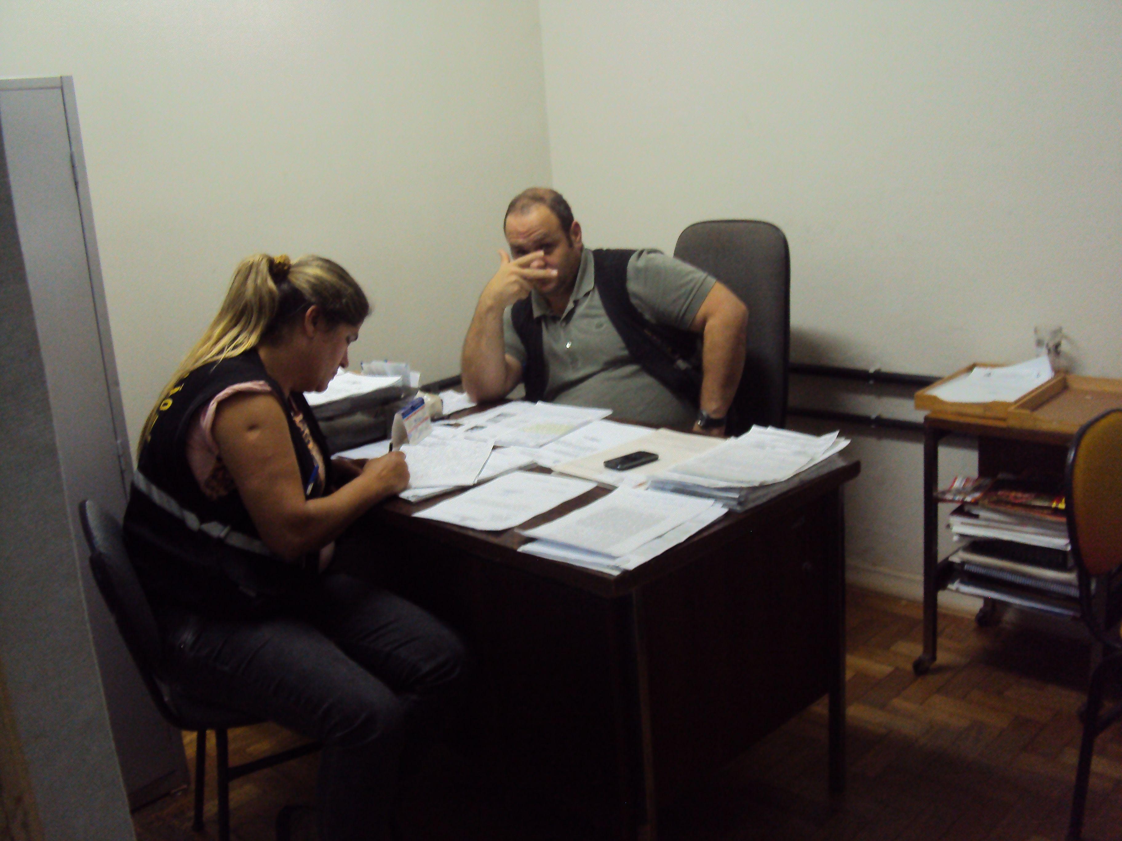 Chefe Bruno da Costa Pinto, Superintendente de Meio Ambiente, e Palmira