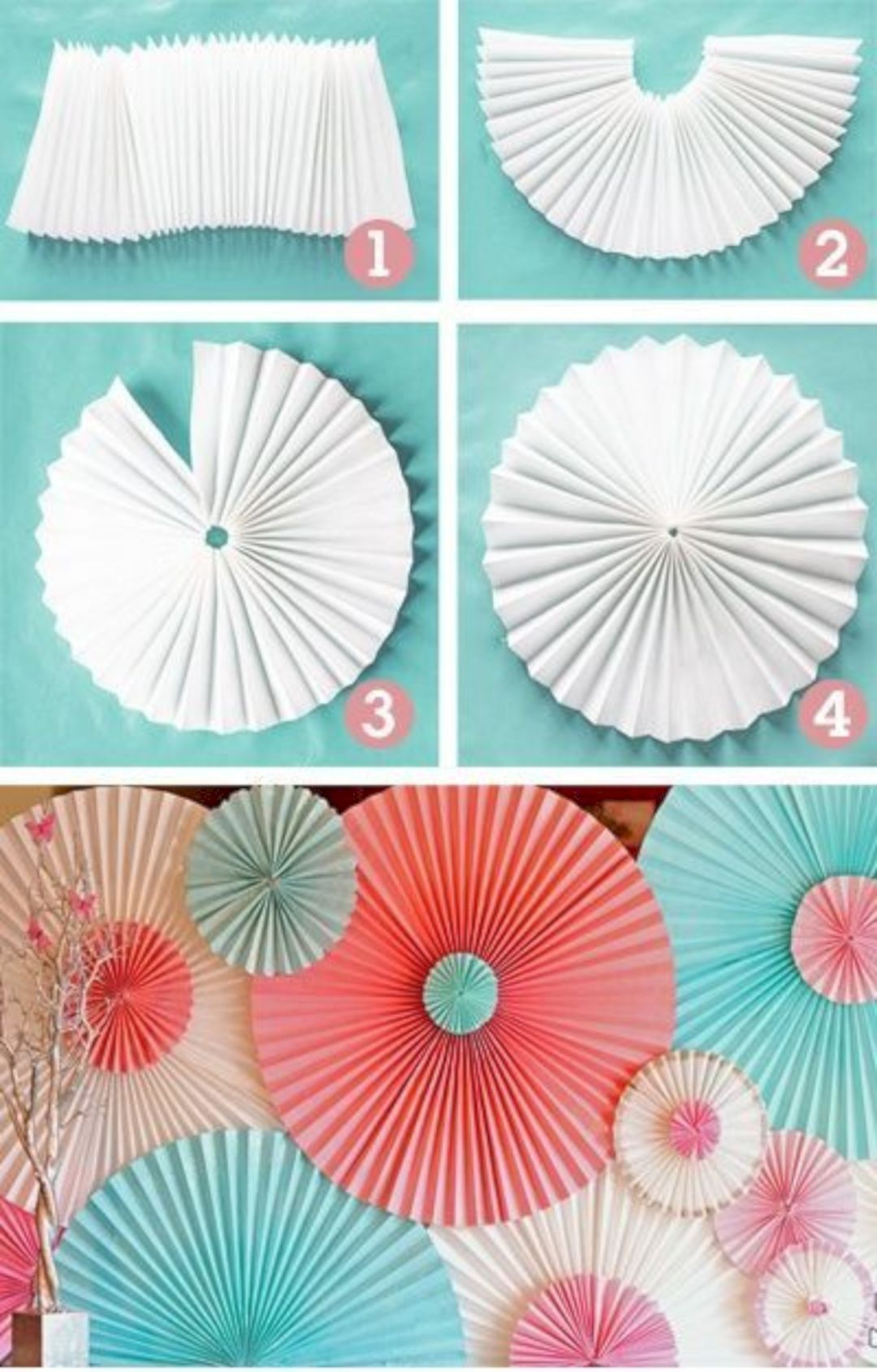 People also love these ideas pc pink and gray chevron rosettes paper fans pinwheel baby rh pinterest