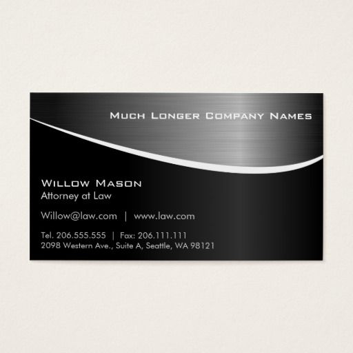Black Stainless Steel Effect Business Card Plus Zazzle Com