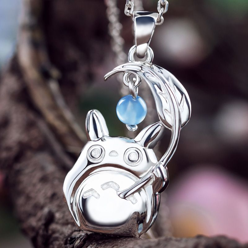Ghibli My Neighbor Totoro Pendant Necklace 925 Sterling Silver in gift box Free shipping