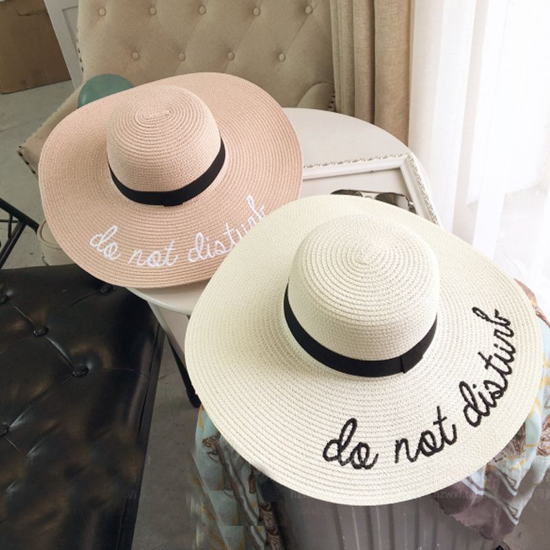 a86e22beef2 2017 Summer Women Sun Hat Ladies Wide Brim Straw Hats Outdoor Foldable Beach  Panama Hats Church