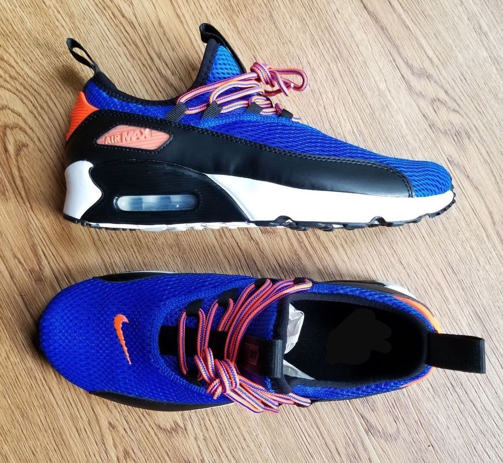 innovative design 31a72 33974 Nike Air Max 90 EZ Kids Youth Racer Blue Crimson Youth Mesh Low-top  Trainers Nike
