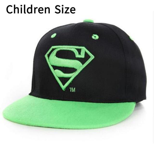 2019 Fashion Baseball Cap Snapbacks Children Cartoon Superman Hat Embroidery Diamond Casquette For Boy And Girl Men's Hats Apparel Accessories