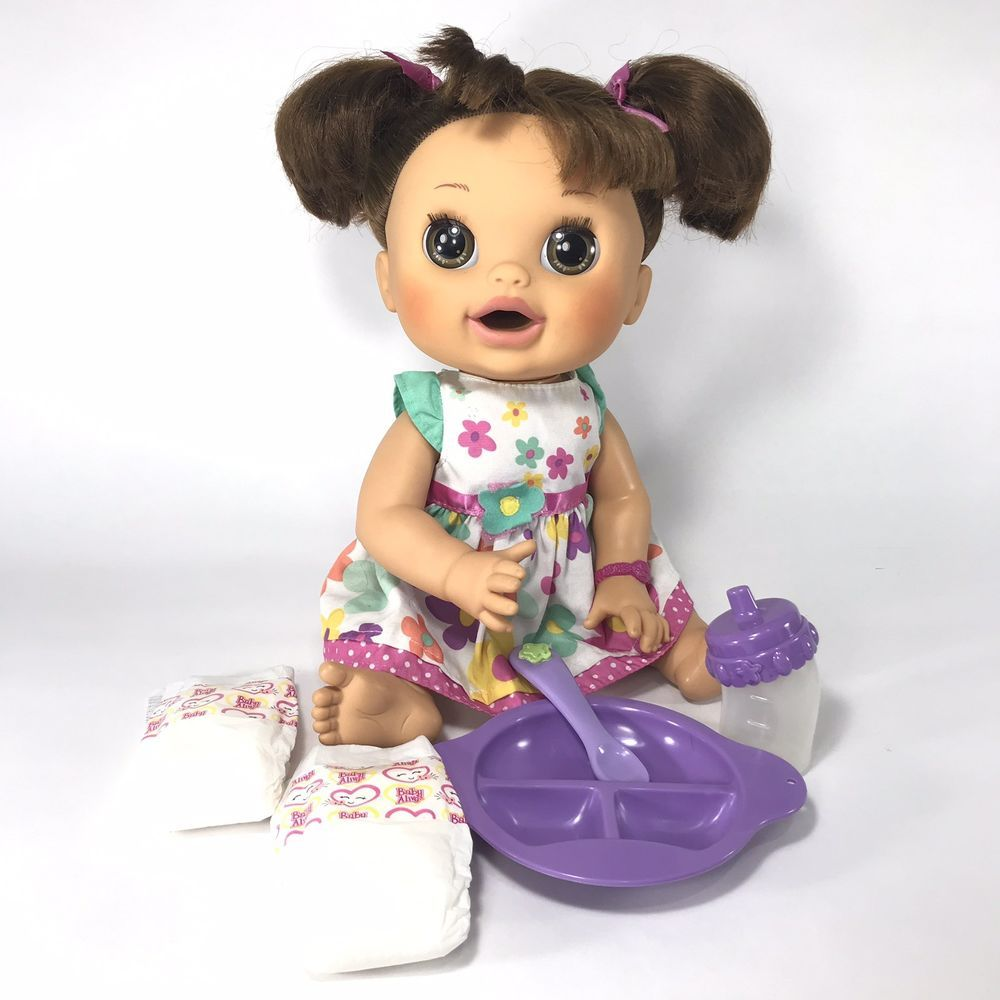Hasbro Baby Alive 2012 Real Surprises Baby Brunette Talks Spanish And English Baby Alive Dolls Baby Alive Surprise Baby