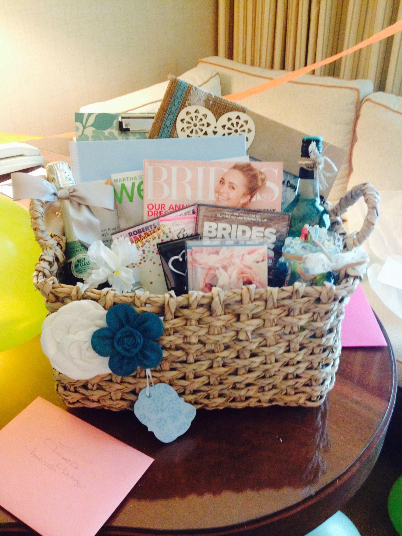 Engagement Gift Basket ) Wedding engagement gifts