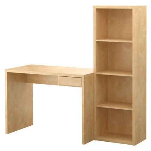 Astounding Ikea Lasse Computer Desk With Bookcase Birch Effect By Ikea Home Interior And Landscaping Transignezvosmurscom