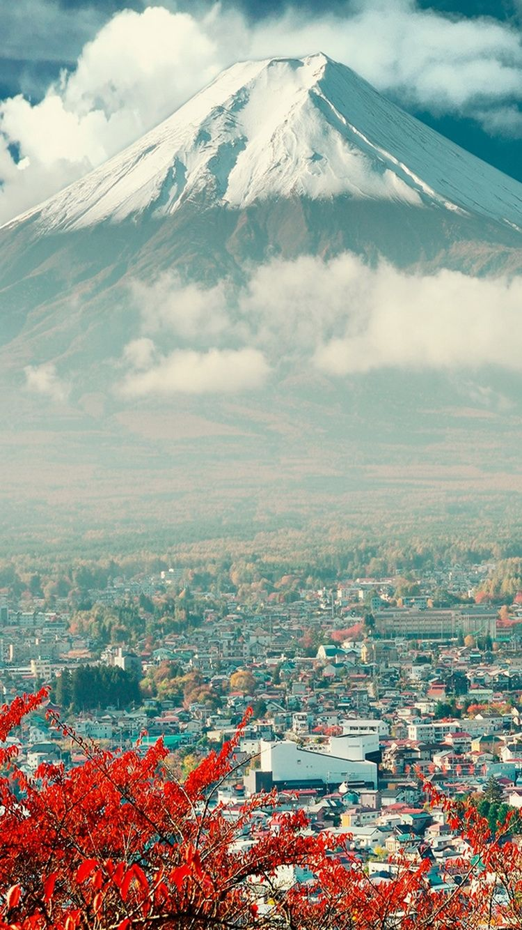 Download Mount Fuji Japan City IPhone 6 Wallpaper