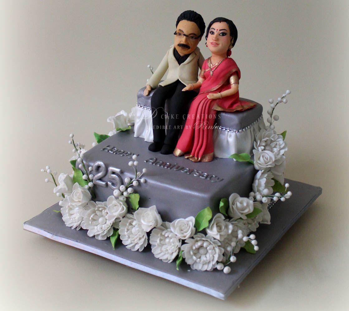 25th Wedding Anniversary Cake Ideas: Pin By Hazel Borland On Anniversary Cakes