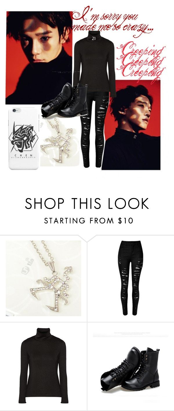 """""""You call me monster 네 맘으로 들어갈게 (8)Chen"""" by park-ji-eun ❤ liked on Polyvore featuring Y-3 and Sunsteps"""