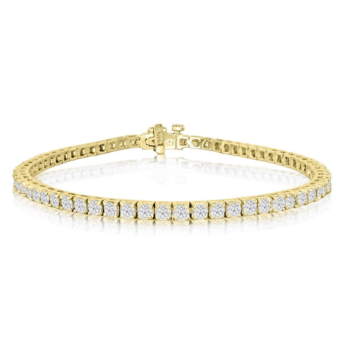 K yellow gold carat diamond tennis bracelet jk ii inch