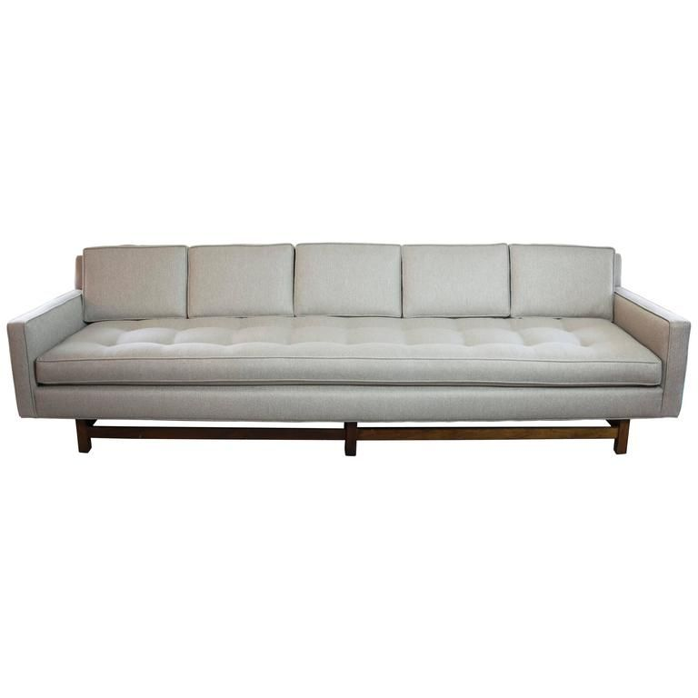 Extra-Long Tuxedo Sofa in the Style of Dunbar | From a unique collection of antique and modern sofas at https://www.1stdibs.com/furniture/seating/sofas/