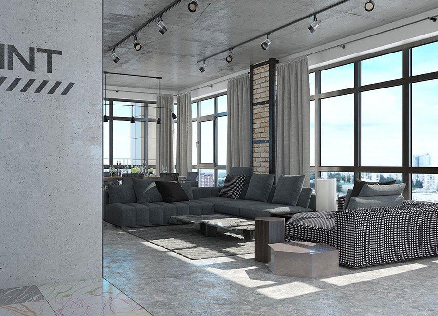 Arredamento Loft ~ Arredamento stile industriale per loft 15 home decor pinterest