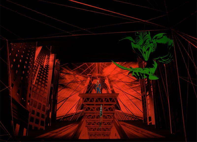 """""""Spider-Man: Turn Off the Dark"""" (Broadway 2011) - Set Model"""