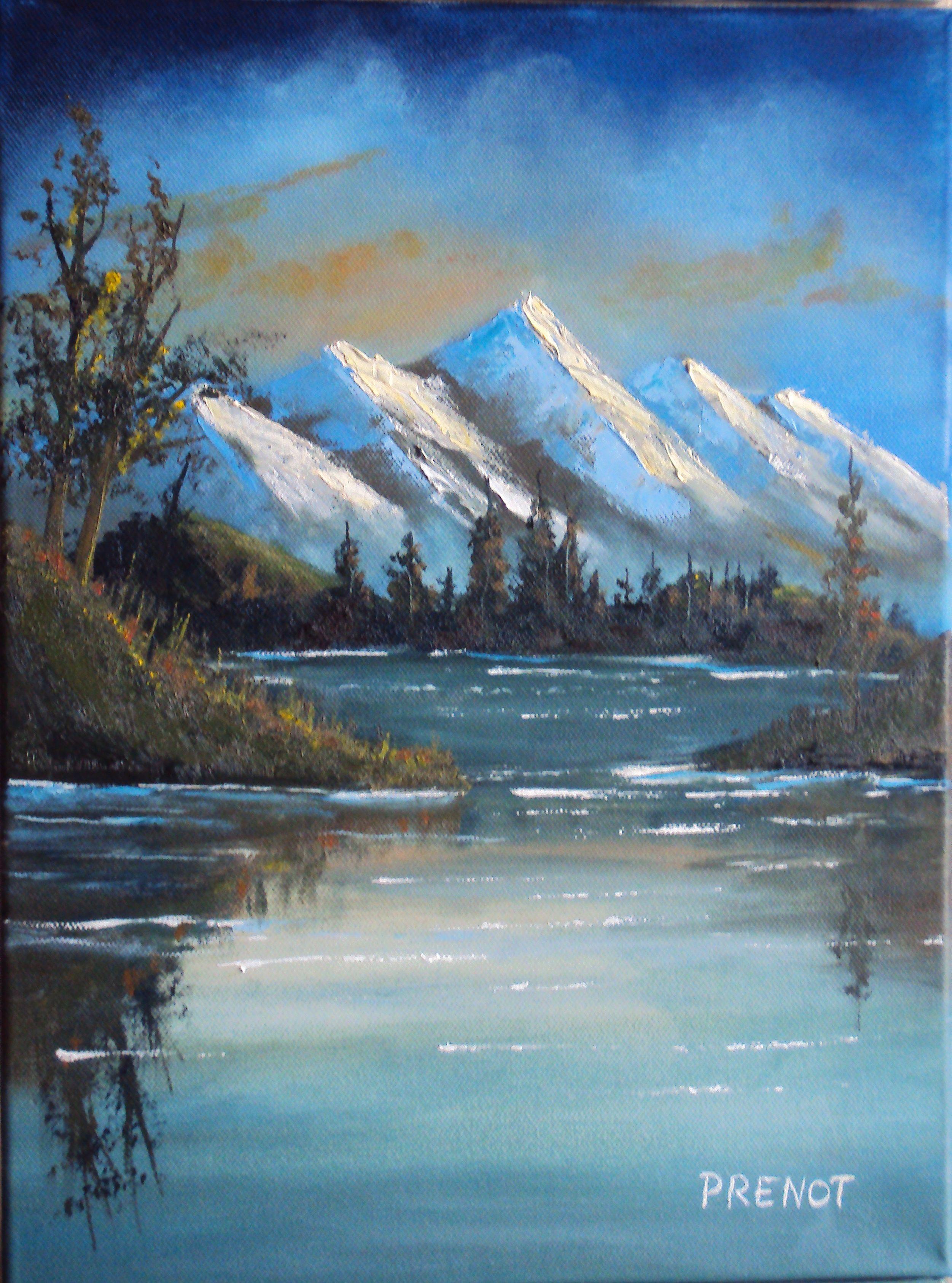 huile sur toile, wet on wet technique | Peinture