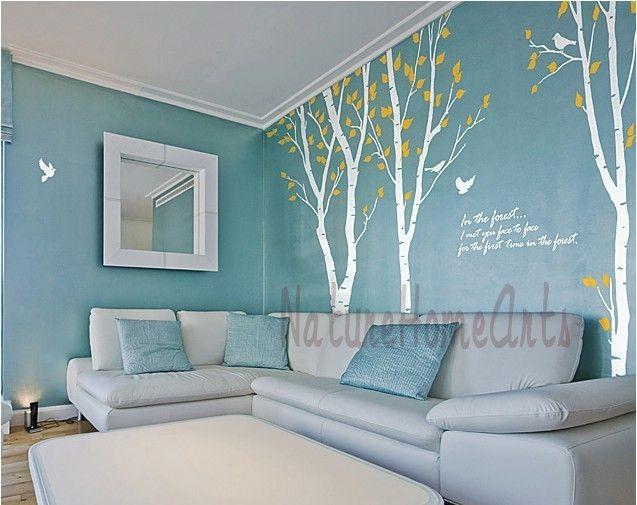 wandtattoo wandtattoo wanddekoration baum mit v geln ein designerst ck von cake083 bei. Black Bedroom Furniture Sets. Home Design Ideas