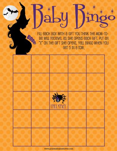 HALLOWEEN Baby Shower Bingo Games   Get Them All At  Http://printmybabyshower.