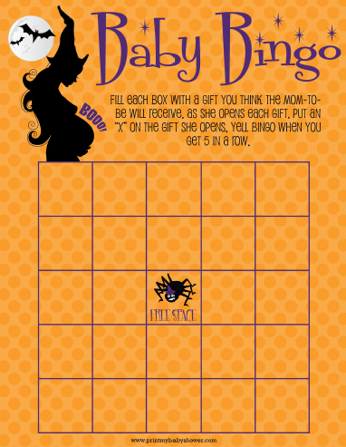 Halloween Themed Baby Shower Games.Pin By Print My Baby Shower Baby Shower Host On Printable Baby