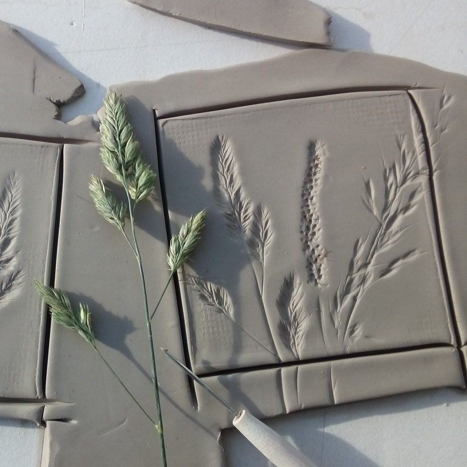 Meadow Botanical Tiles In The Making Art Ceramics
