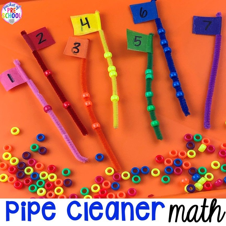 Photo of Pipe Cleaner Math – Counting, Making Patterns, and Addition Flags – Pocket of Preschool
