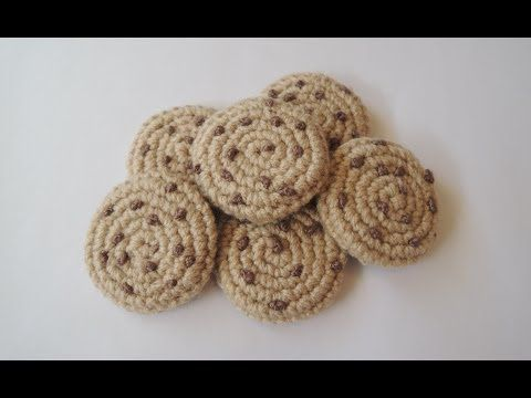 ▶ Crochet pattern for chocolate chip cookies - YouTube