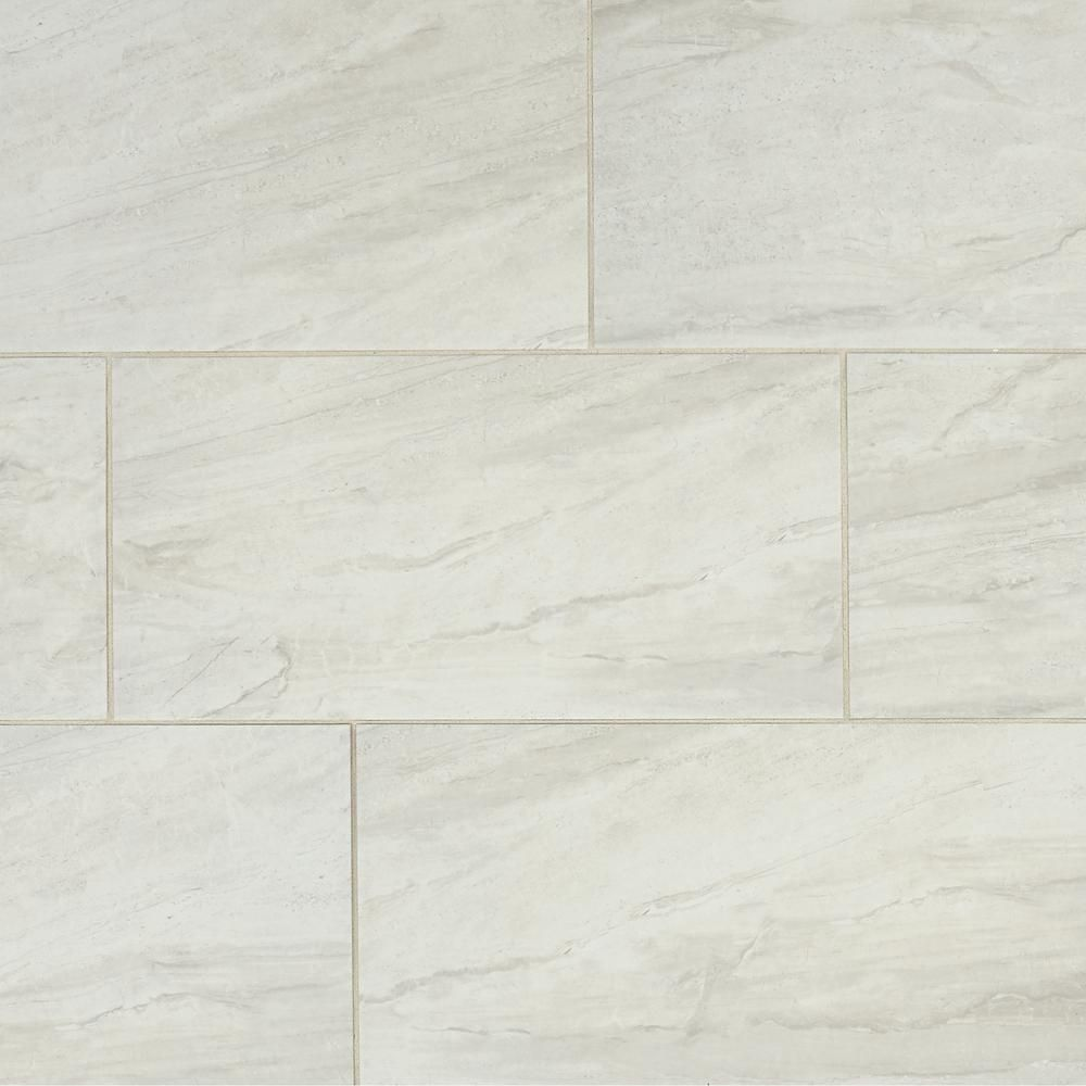 Marazzi Noble Stone Cloud 12 In X 24 In Glazed Porcelain Floor And Wall Tile 15 60 Sq Ft Case Ns011224hd1p6 The Home Depot Porcelain Flooring Flooring Porcelain Floor Tiles