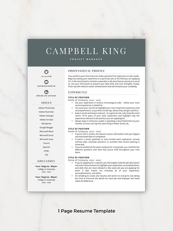 Professional Resume, Resume Template, Resumes, Free Resume Template