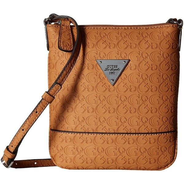 GUESS Swoon Crossbody (Cognac) Cross Body Handbags ( 35) ❤ liked on Polyvore 59afc63cd4