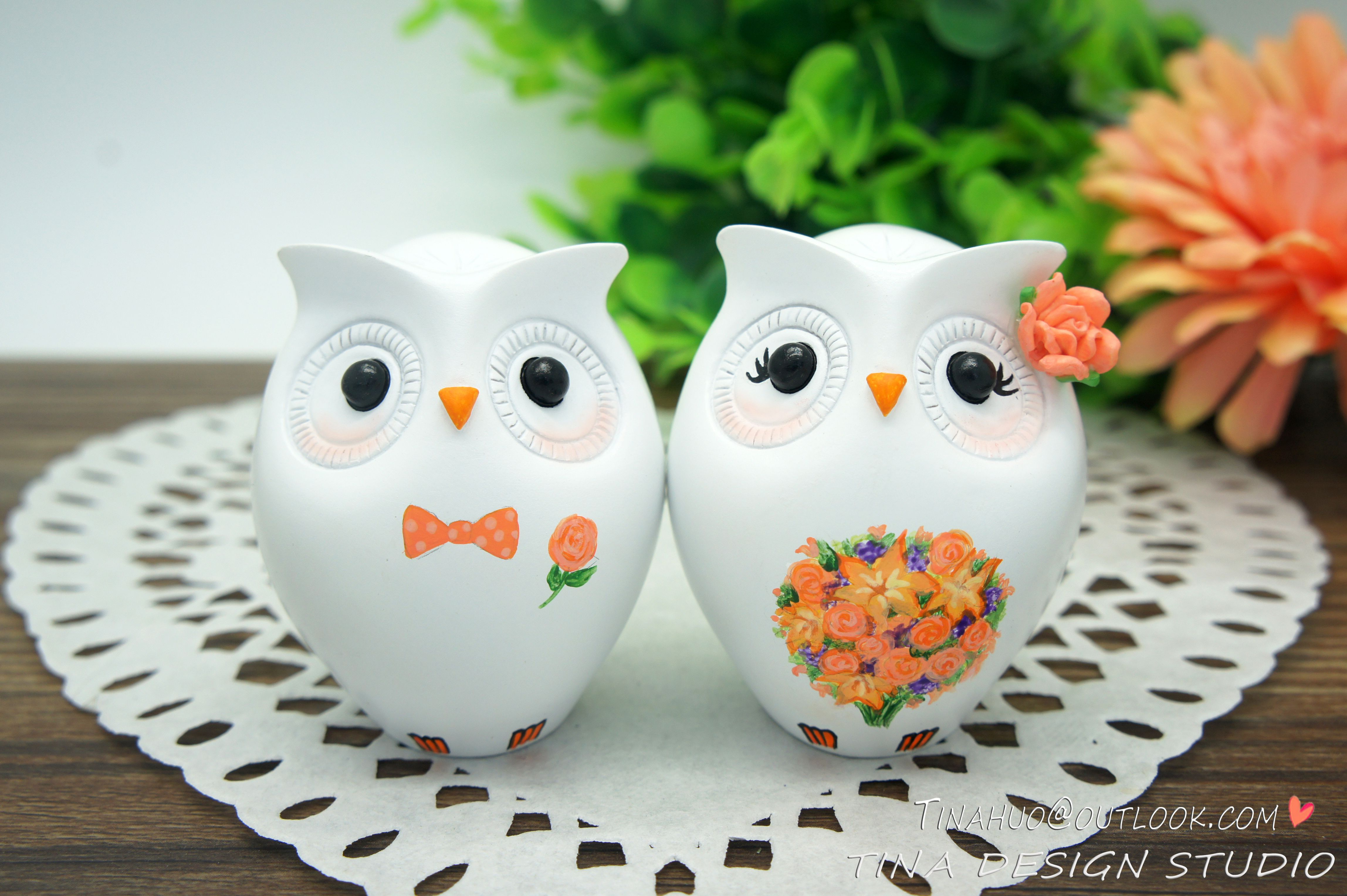 Owl Wedding Cake Topper Fall Theme-Love Bird Wedding Cake Toppers ...
