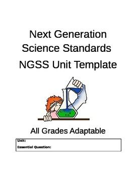 Ngss Unit Template For Lesson Planning Easy To Use All Grades