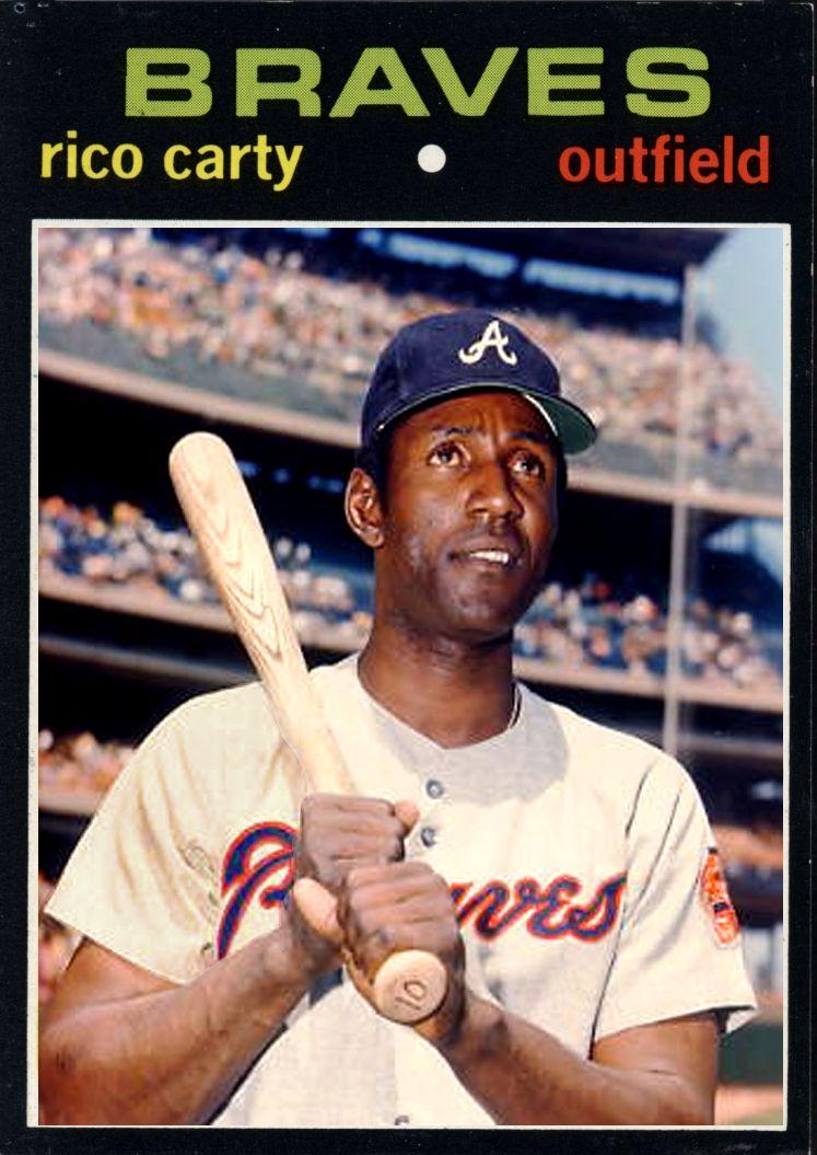 1971 Rico Carty Atlanta Braves Alternate Card Braves Atlanta Braves Major League Baseball Stadiums