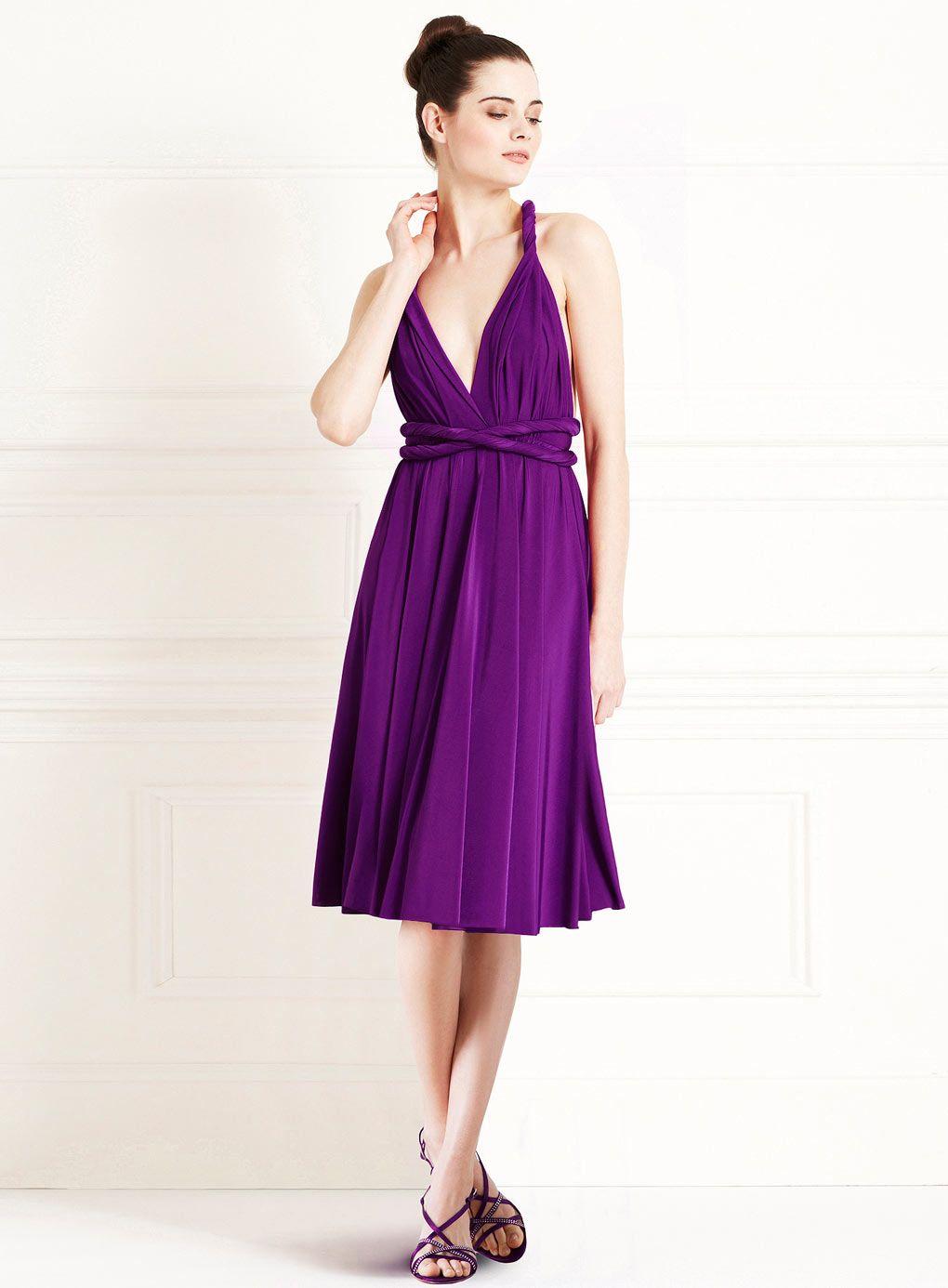 Purple One Shoulder Cocktail Dress Purple Cocktail Dress