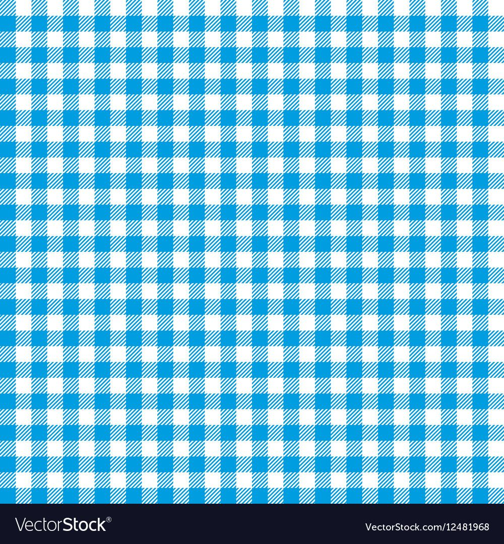 Blue Checkered Tablecloths Patterns Vector Image On Checkered