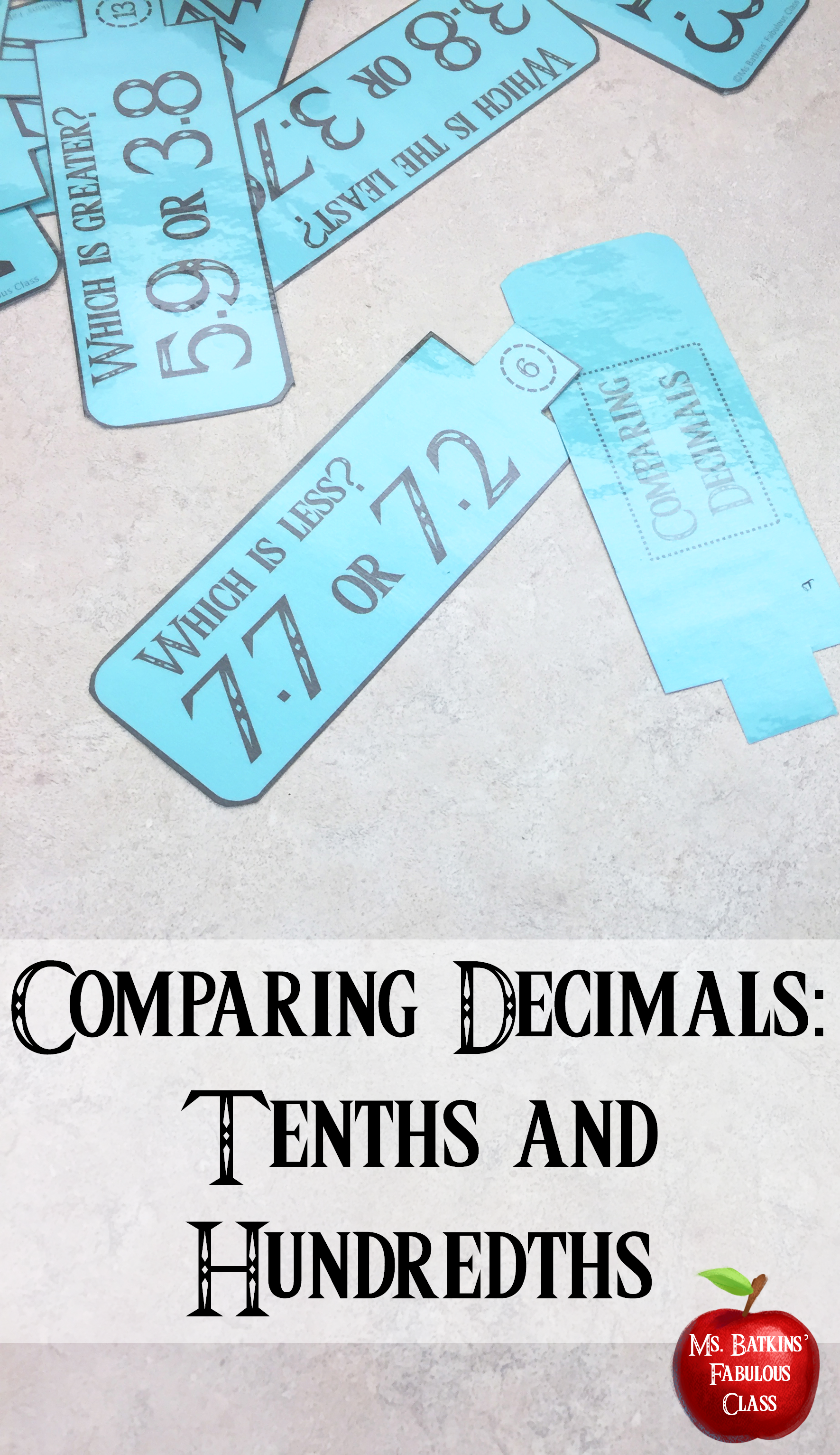 Comparing Decimals To The Tenths And Hundredths Math