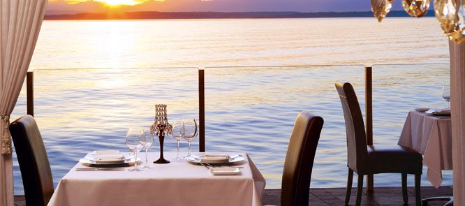 Dinner By The Water At Sunset Perfect Makes My