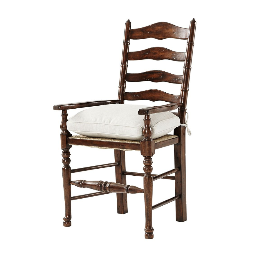 English Country Ladder Back Dining Armchair Ladder Back Dining Chairs Solid Wood Dining Chairs Dining Arm Chair