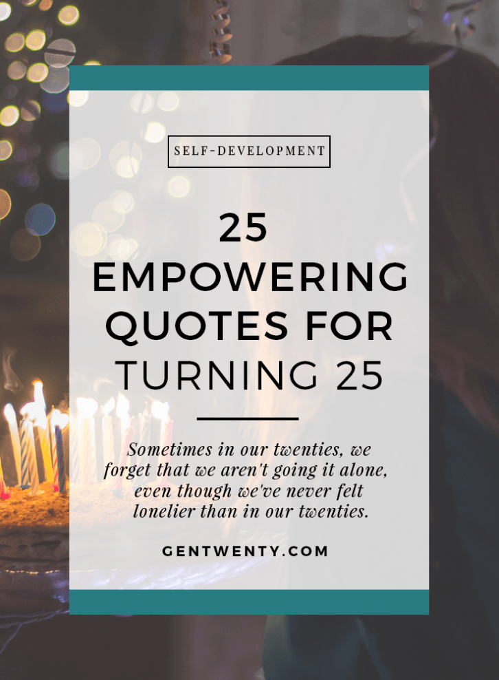 25 Empowering Quotes for Turning 25 Word