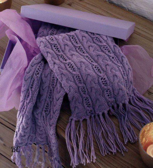 Красивые узоры для шарфов