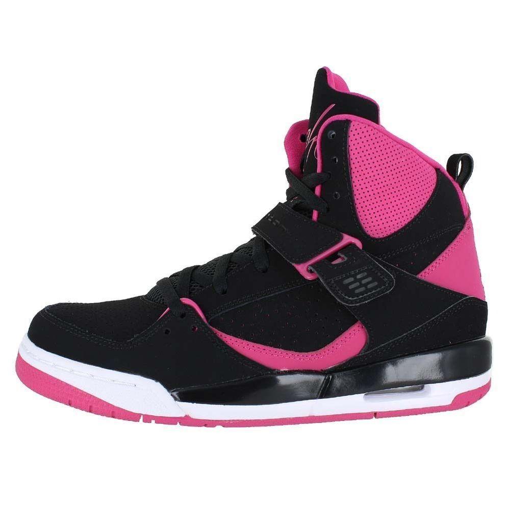 6e2a801d35 NEW NIKE JORDAN FLIGHT 45 HIGH IP Womens 8 (6.5Y) Black Vivid Pink retro  NIB NR #NikeJordan #Athletic