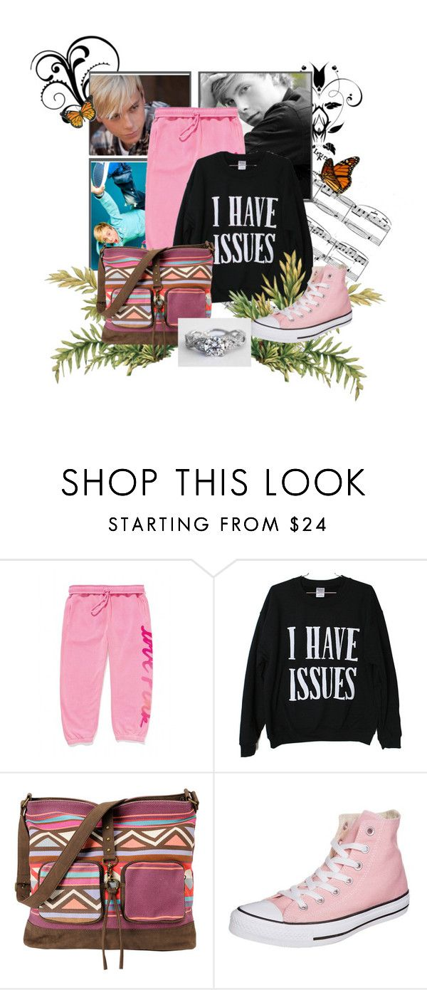 """""""Airplane ride"""" by lovebug-gibbs ❤ liked on Polyvore featuring Victoria's Secret, Billabong and Converse"""