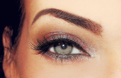 smokey eye with a white sparkle