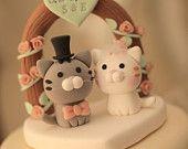 kitty Wedding Cake Topper---k831