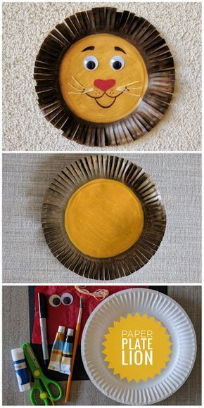 Paper Plate Lion Craft #characterart