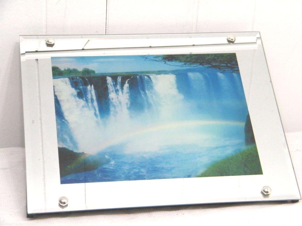Vintage Niagara Falls Motion Light Lighted Moving Waterfall Mirror W