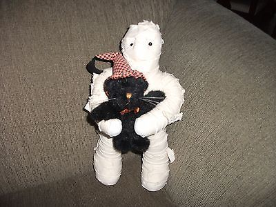 BOYDS BEARS Are You My Mummy Halloween Doorstop Doll Kitty Cat Witch