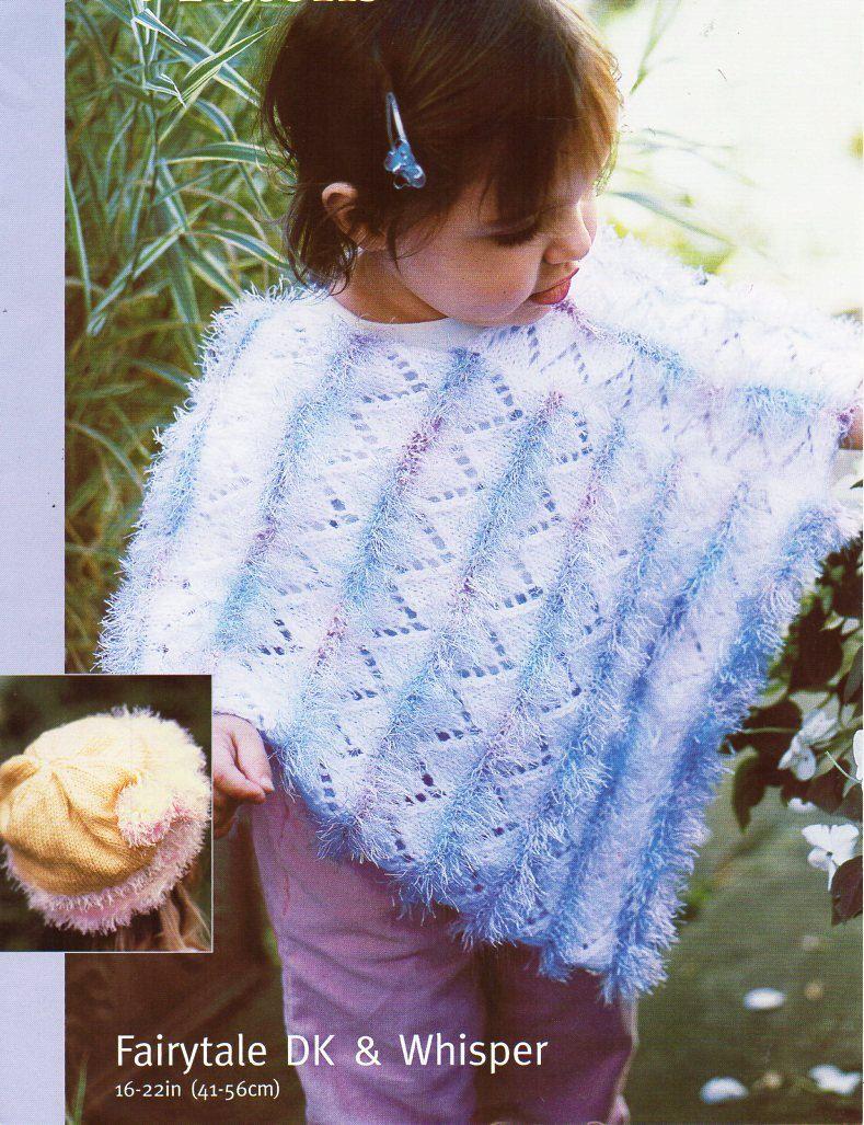 baby DK / Eyelash poncho hat knitting pattern PDF fur poncho hat ...