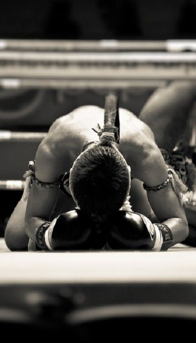 World Martial Art Black And White Thai Kickboxing By C