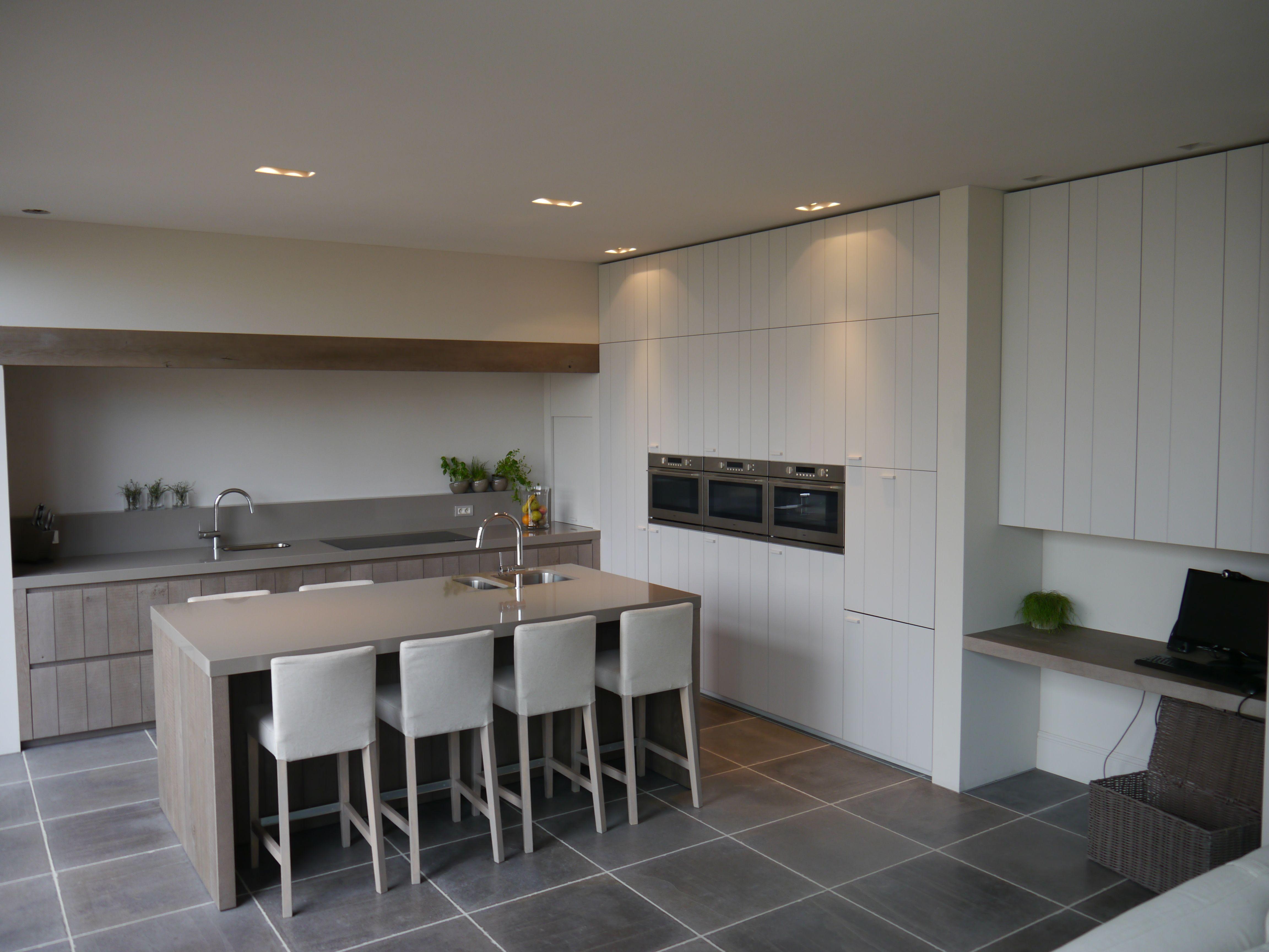Landelijk Keuken Strakke : Keuken landelijk strak interieurarchitect charlotte van bruwaene
