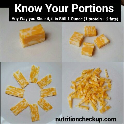 What 1 ounce of protein looks like: CHEESE #knowyourportions