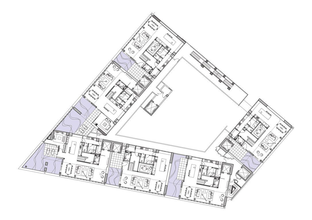 Floor plan typical one kl scda architect apartment for Typical office floor plan